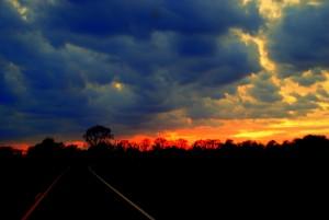 17 Sunset on Way Home
