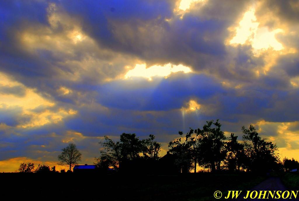 20A Sunbeams Above Farm Enhanced