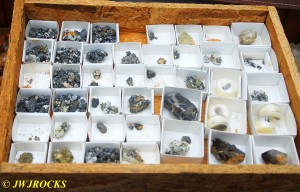 Box Brookites and Smokey Quartz