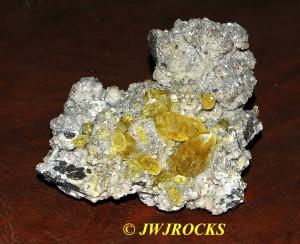 08 Calcite XLS in Dolomite & Chalcopyrite