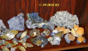 12 Pyrite & Chalco Calcite Pieces