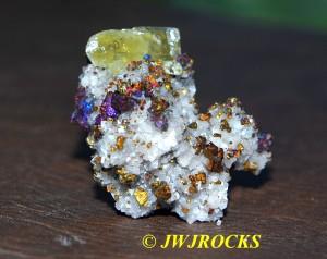 14 Calcite XLS in Dolomite & Chalcopyrite