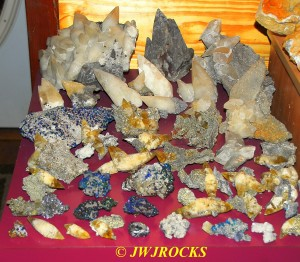 14 Pyrite & Chalco Calcite Pieces