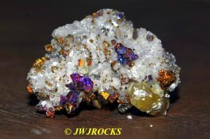 15 Calcite XLS in Dolomite & Chalcopyrite