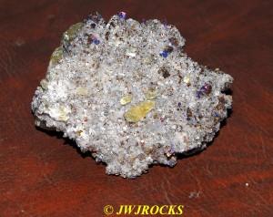 20 Calcite XLS in Dolomite & Chalcopyrite