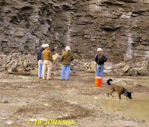 04 Phil Points Out Mineralized Zones at Quarry