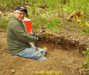 59 Jim at His Dig Spot