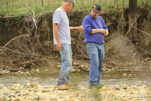 Phils Location Mark & I in Creekbed - Chucks Pix