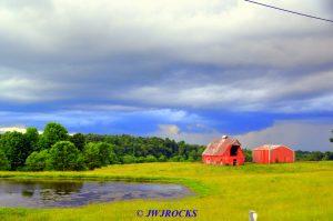 38 Storm Behind Horse Barns