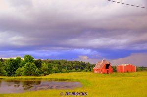 39 Storm Behind Horse Barns